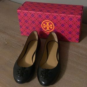 Tory Burch Lowell leather ballet flats.